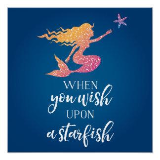Wenn Sie nach einem Starfish wünschen Poster