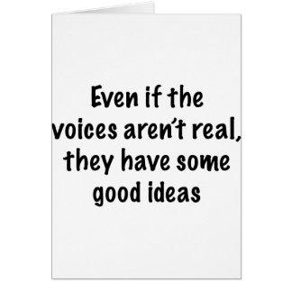 Wenn Stimmen nicht wirklich sind Karte