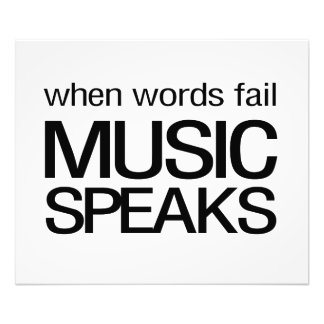 Wenn Wörter versagen, spricht Musik Fotografische Drucke