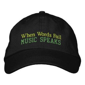 Wenn Wörter versagen, spricht Musik Kappe Bestickte Caps