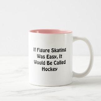 Wenn Zahl Skaten einfaches… angerufenes Hockey war Zweifarbige Tasse