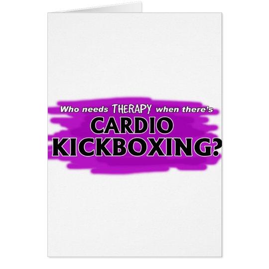 Wer benötigt Therapie, wenn es Herz Kickboxing Grußkarte