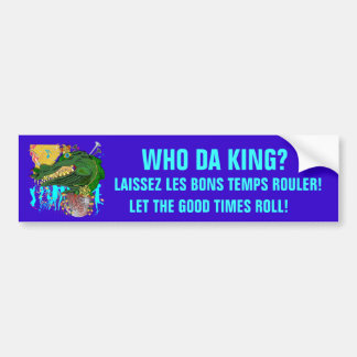 Wer DA-König? Autoaufkleber