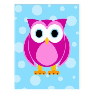 Wer? Frau Owl Cartoon Postkarte