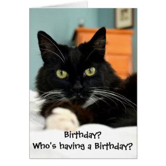 Wer hat einen Geburtstag? Gruß-Karte Karte