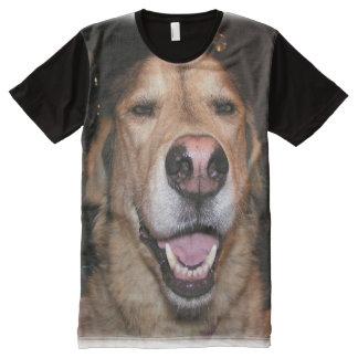Wer ist ein guter Junge? T-Shirt Mit Komplett Bedruckbarer Vorderseite