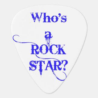 Wer ist ein Rockstar? Ich bin. - Blau Plektrum