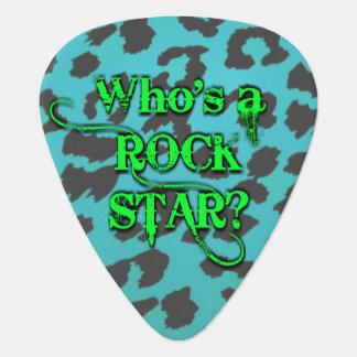 Wer ist ein Rockstar? Ich bin. - Blaues Plektrum