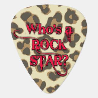 Wer ist ein Rockstar? Ich bin. - Leopard-Rot Plektron