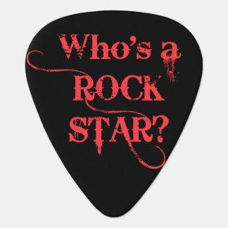 Wer ist ein Rockstar? Ich bin. - Rot Plektron