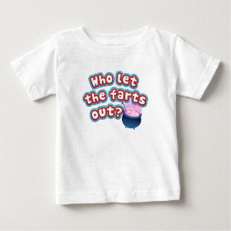 Wer ließ die Furzen heraus? Lustiges Baby-Shirt Baby T-shirt