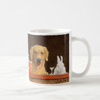 Werden Sie Bullas-Tasse/Hasen des Hundes und des Kaffeetasse