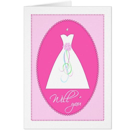 Werden Sie? Hochzeits-begleitende Einladungs-Karte Grußkarte