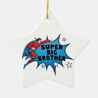 Werdener Superheld ein großer Bruder Keramik Stern-Ornament