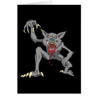 Werewolf-Anmerkungs-Karte Mitteilungskarte