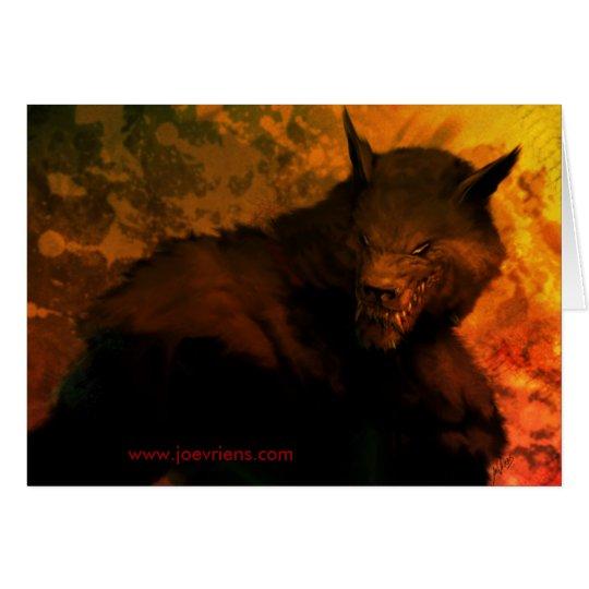 Werewolffehlschlag Gruß-Karten Karte