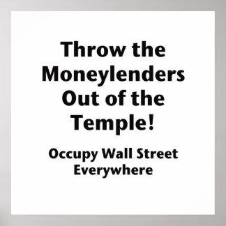 Werfen Sie die Geldverleiher aus dem Tempel Poster