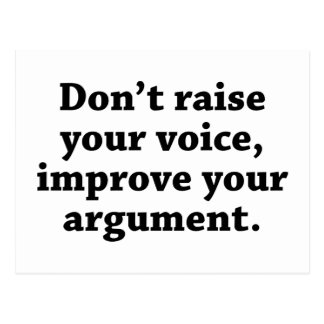 Werfen Sie nicht Ihre Stimme, verbessern Ihr Postkarte