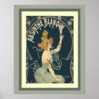 Wermut Blanqui Kunst Nouveau Plakat 16 x 20