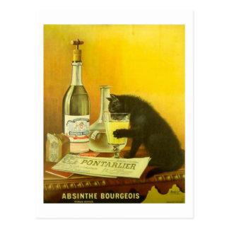 Wermut-Bürger und Katzen-feines Vintages Plakat Postkarte