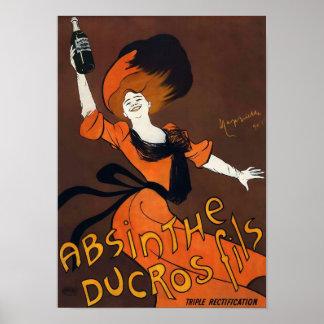 Wermut Ducros Fils Vintages Plakat