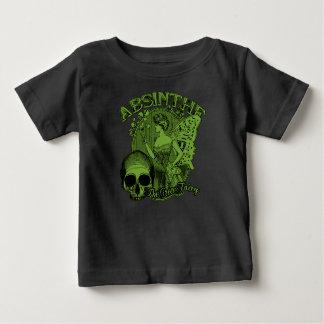 Wermut-grüne feenhafte Dame Baby T-shirt