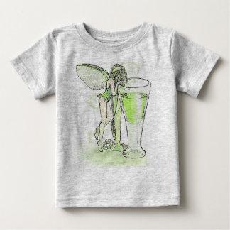 Wermut-La-Gebühr Verte Fee mit Glas (kein Text) Baby T-shirt