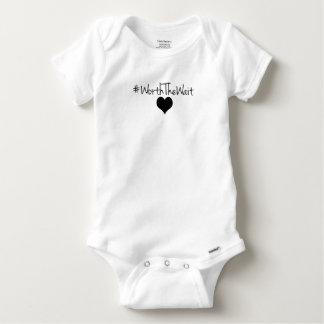 Wert das Wartezeit-Baby Onsie Baby Strampler