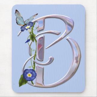 Wertvolle Schmetterlings-Initiale B Mousepads