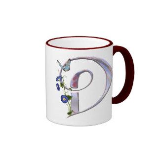 Wertvolle Schmetterlings-Initiale D Ringer Tasse