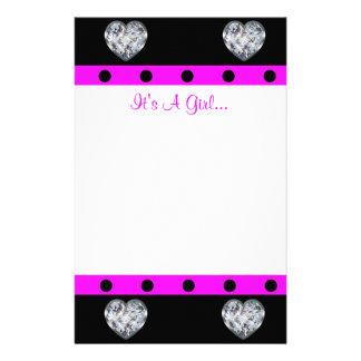 Wertvoller als Diamant-Girly Baby-Dusche Briefpapier