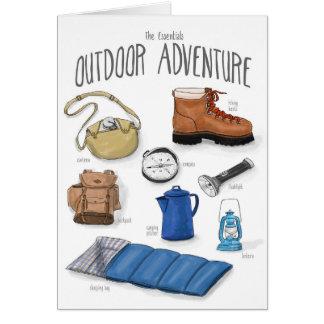 Wesensmerkmale: Abenteuer-Campings-Karte im Freien Karte