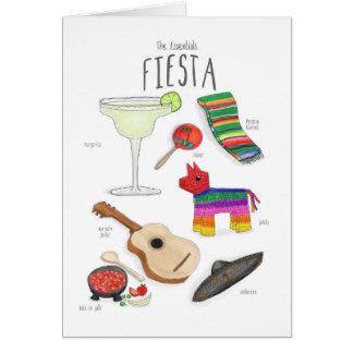 Wesensmerkmale: Eine Fiesta-Karte Grußkarte