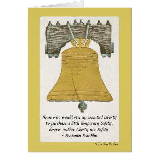 Wesentliche Freiheit durch Benjamin Franklin Karte