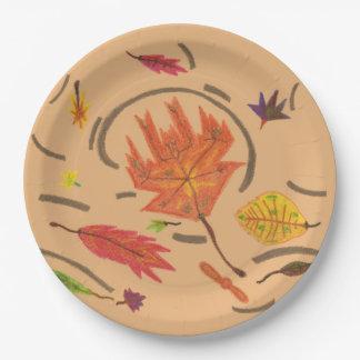 Wesentliches des Herbstes verlässt Set Pappteller