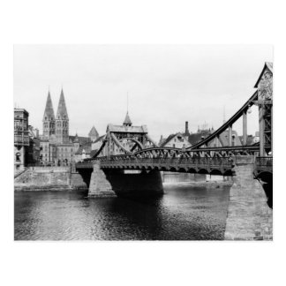 Weser Brücke, Bremen, c.1910 Postkarte
