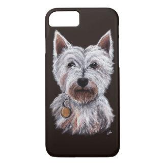 West Highland Terrier Dog Pastel Pet Illustration iPhone 8/7 Hülle