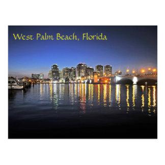 West Palm Beach an der Dämmerung Postkarte