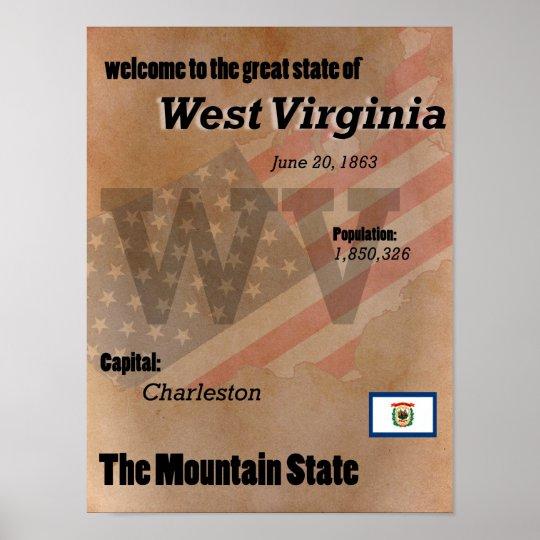 West Virginia der GebirgsStaats-Klassiker Poster