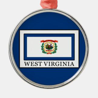 West Virginia Silbernes Ornament