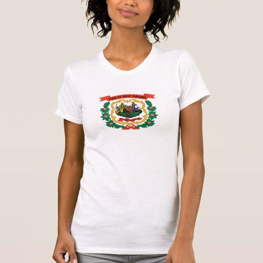 West- Virginiamantel bewaffnet Staat Flagge T-Shirt