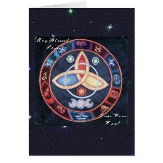 Western-Astrologie-Rad Karte