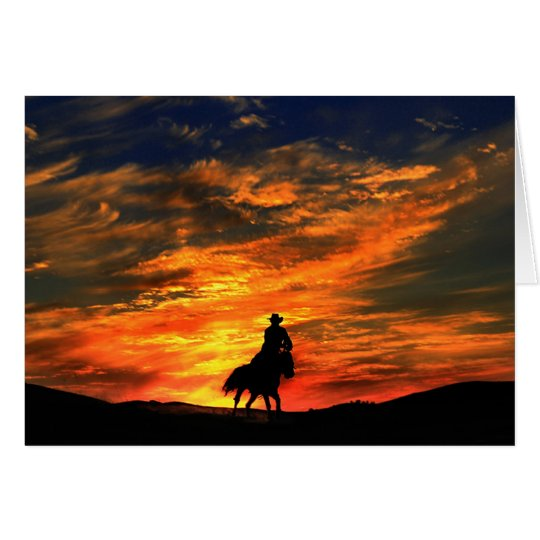 Western-Cowboy-Gruß-Karte Grußkarte