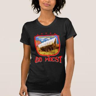 Western-dunkles Pioniert-Shirt T-Shirt