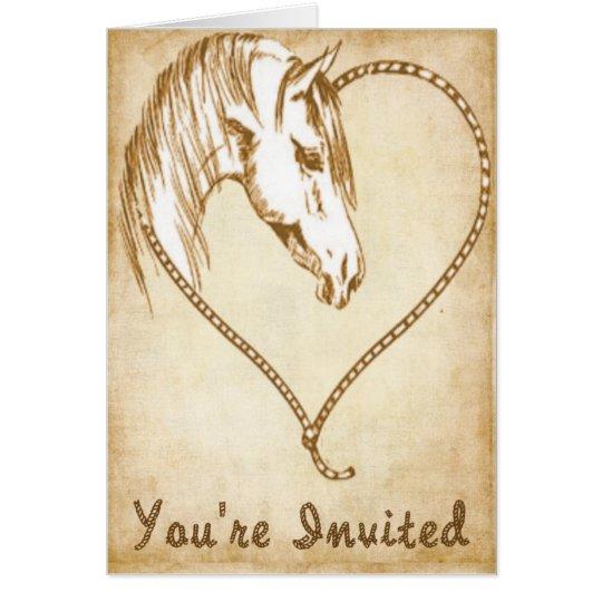 Western-Hochzeitseinladungen Grußkarte