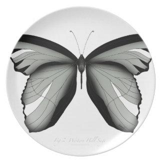 Western-Hügel-Salbei-Schmetterling Melaminteller