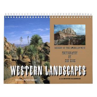 Western-Landschaften Wandkalender