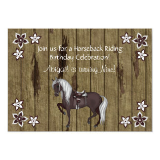 Western-Pferderuecken-Reitgeburtstags-Einladung 12,7 X 17,8 Cm Einladungskarte