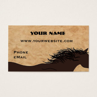 Western-PferdeSilhouette-Geschäfts-Karten Visitenkarte