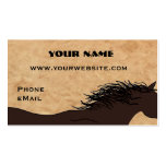 Western-PferdeSilhouette-Geschäfts-Karten Visitenkarten